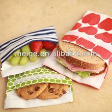 reusable sandwich snack bag/cotton snack bag/food snack bag