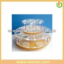 Round Shape Countertop Acrylic Cosmetic Organizer