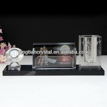 Crystal office stationery table set
