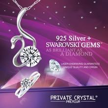 925 Silver Jewelry Made with Swarovski Zirconia / No Cadmium, Lead, Nickel / Wholesale Price