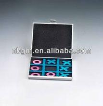Aluminum Tic Tac Toe XO Chess Travel Game Chess Set