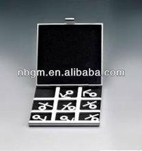Aluminum Tic Tac Toe XO Chess set/Travel Game Set