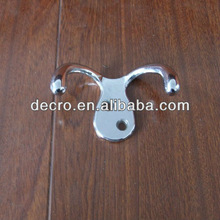 zinc alloy double coat hook