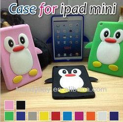 Penguin Cute Silicone Case For iPad Mini