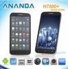 5inch 1280*720 MTK6589 Quad Core Phone H7500+ Android 4.1 Cell Phone