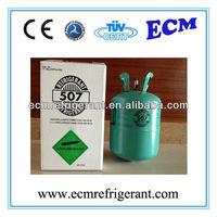 mixed refrigerant gas r507a car ac gas