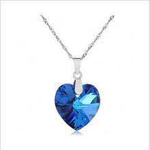 Manufacturer Supply Fashion Necklace White Gold Plated 2013 Jewelry Nickel Free Valentine Day Gift