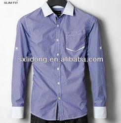 100% Cotton Fashion stripe dress shirts men 2013/shirt manufacturers