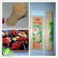 bambù verde spiedini di carne