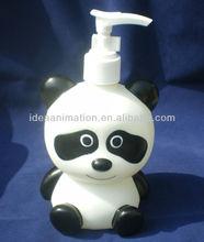 OEM 500ml vinly cartoon figure shampoo bottle panda