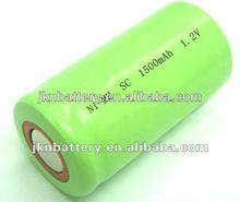 1.2V nimh sc1500 rechargeable batteries