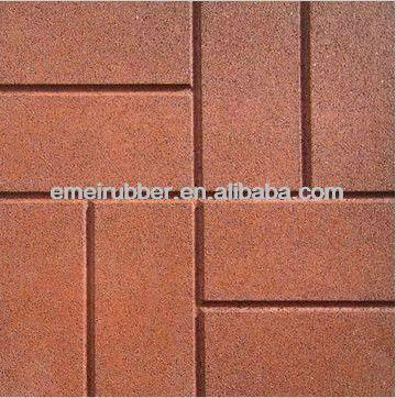 Borracha reciclada de tijolos/pátio telhas de borracha