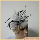 Special design women cheap black decorating fascinators for hair