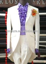 Design Wedding bespoke Suit for man Pictures High Quality 100% Woolen Indian top brand coat pant men suit design 2013 MS038