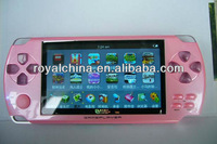 4.3 inch touch screen mp4/mp5 game player with game+camera+TV-out