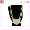 Manufacture supply loverly gold jewelry with chain necklace