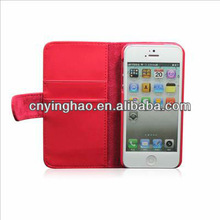 Leather Card Pouch Case Cover for iPhone 5