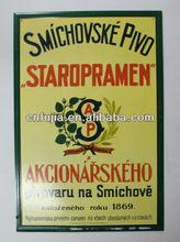 retro vintage style tin wall plaque shop decor