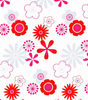 flower printed polyester shower curtain