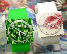 fashion promotional factory supply silicone stamp watch