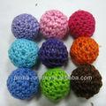 moda colorida cuentas crochet