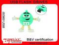 Nueva alta calidad Advertisement producto primas y de regalo de dibujos animados verde USB 2.0 Pendrive