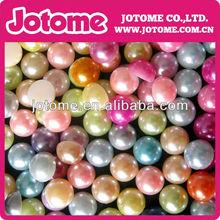 Newest various shape flatback pearl beads,half ABS pearl beads,nail flat back pearl for jewelry accessories