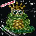 Colorido coroa da princesa sapo custom rhinestone appliques 2-9 3