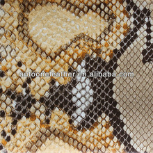 Pu artificial leather mirror snake skin for bag T5003
