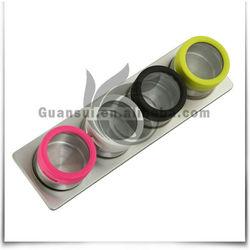 5pcs magnet stainless steel cruet sets