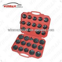 WINMAX 30 PCS OIL FILTER CAP TYPE WRENCH TOOL SET REMOVAL SOCKET KIT CAR TOOLS WT04048