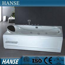 HS-B205 small bathtub sizes/ 1 person bathtub/ acrylic shallow bathtub
