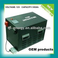 (LCD display ) 12V 300Ah LiFePO4 battery made in China
