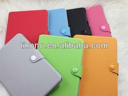 Football grain slim book style stand leather case for ipad mini