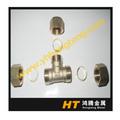 12 16 20 25 mm en laiton t, Raccords à Compression avec anneaux en laiton, Cuivre laiton coupleur, Laiton connecteur