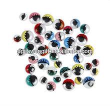 Self-adhesive mix color eyelash WIGGLE Eyes