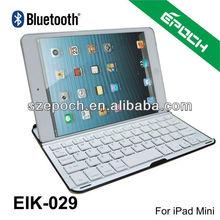 High Quality Aluminum Bluetooth Keyboard For iPad Mini With US,Spanish,French,German,Danish Layout