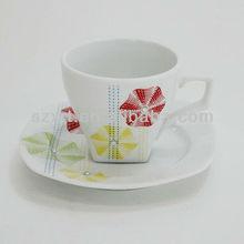 200ml colourful ceramic /porcelain/ pottery square shape tea sets gift boxed