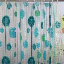 brignt colr flower waterproof bath shower curtain