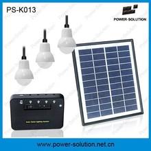kit energia solar sistema solar de 3 LEDs para vivienda aislada