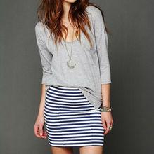 New fashion black and white pencil stripe skirt Mini Skirt MIN4