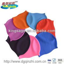 Summer popular soft healthy silicone swim cap.silicone swim cap