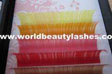 10colors mix bright colors mink eyelash extensions tweezers individual lashes professional eye lashes wholesaler
