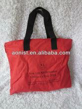 2013 new desigen bright black shopping bag