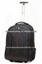 fibre nylon computer bag pack with wheels