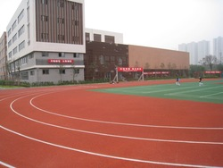 Synthetic and rubberized Running track