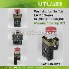 LA110-B2-BW 220V Push button Switch UL