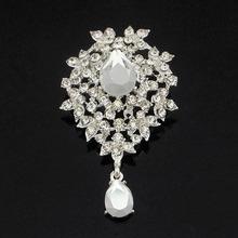 wholesale fashion jewellery brooches hijab pins for wedding WBR-1102