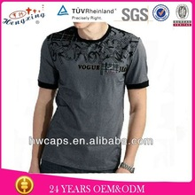 polo-neck embroidery men t-shirts wholesale