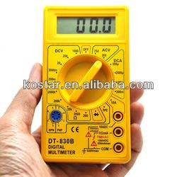 LCD Digital Voltmeter Voltage Testers Ammeter Ohm Multimeter DT830B